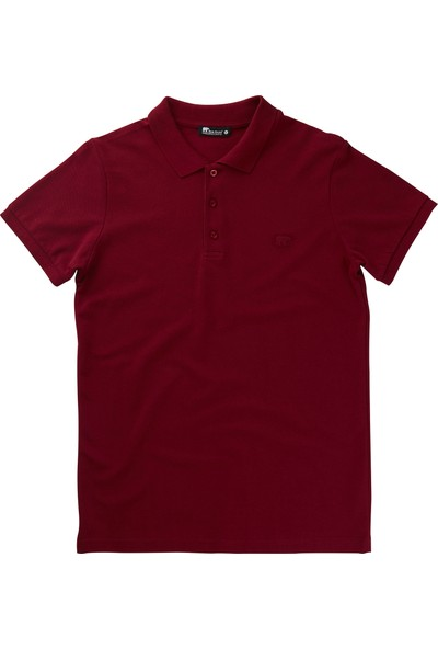 Bad Bear Bordo Erkek T-Shirt Basic Polo Maroon