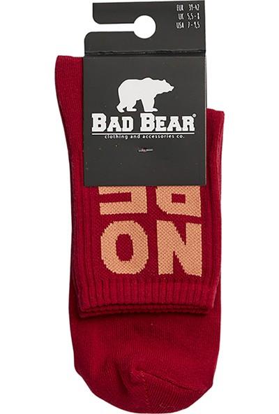 Bad Bear Nope Tall Maroon