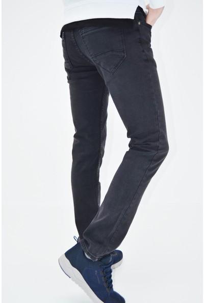 Danlıfit Füme Çizgili Taşlamalı Likralı Erkek Kot Pantolon