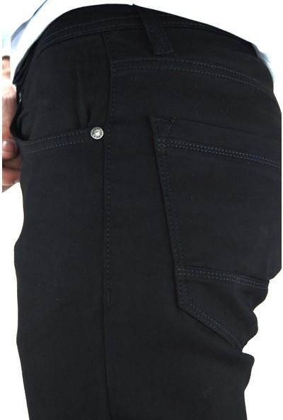 Danlıfit Siyah Likralı Gabardin Erkek Kot Pantolon