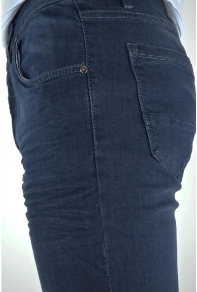 Danlıfit Dark Blue Yıpratmasız Krinkıllı Likralı Erkek Kot Pantolon