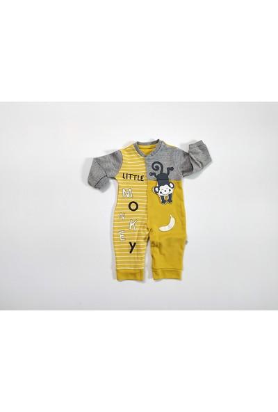 Mymio Baby Sevimli Maymun 3 Boyutlu Tulum