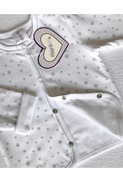 Happy Moon Gri Yıldız Desenli Ceket