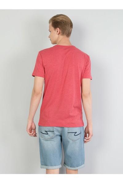 Colin's Kırmızı Erkek Kısa Kollu T-Shirt