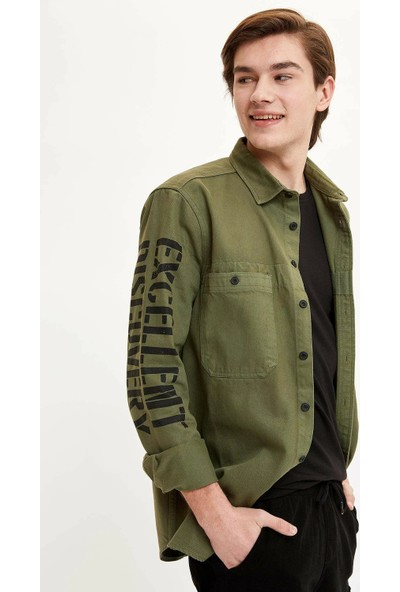 D.F.C Regular Fit Jean Gömlek XL