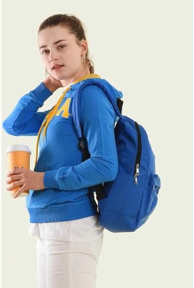 Ucla Mavi Kapüşonlu Aplikeli Kadın Sweatshirt