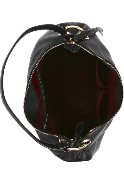 Bellezza By H El Yapımı Gerçek Dana Derisi Siyah Renk Omuz Çantası