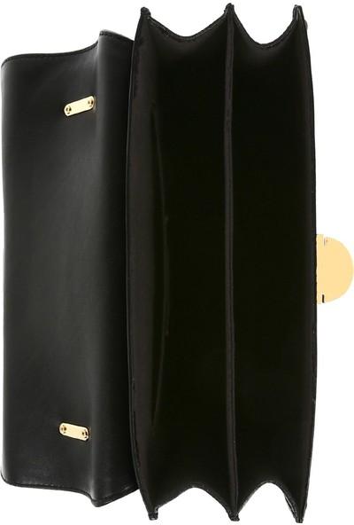 Bellezza By H El Yapımı Gerçek Napa Deri Siyah Renk Omuzda Veya Uzun Askısıyla Çapraz Olarak Kullanılabilen Çanta