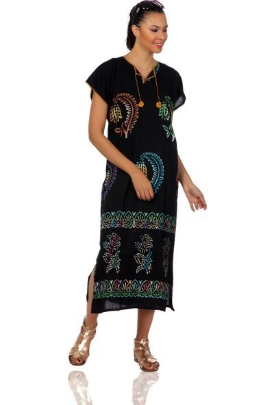 Eliş Şile Bezi Hitit Elbise Yaprak Desen