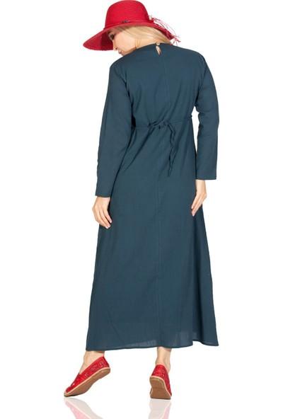 Eliş Şile Bezi Uzun Kol Melek Elbise