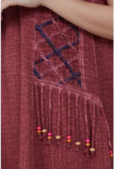 Eliş Şile Bezi Yıldız Elbise