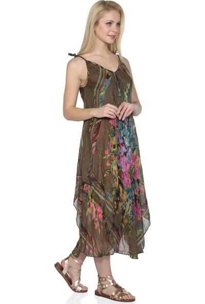 Eliş Şile Bezi Afrodit Elbise Pano Desen