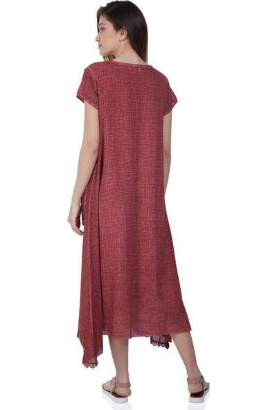 Eliş Şile Bezi Ebru Elbise