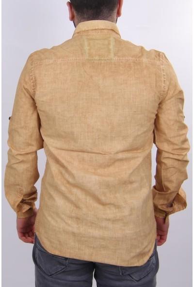 Manche 11-2319 Keten Erkek Gömlek XL