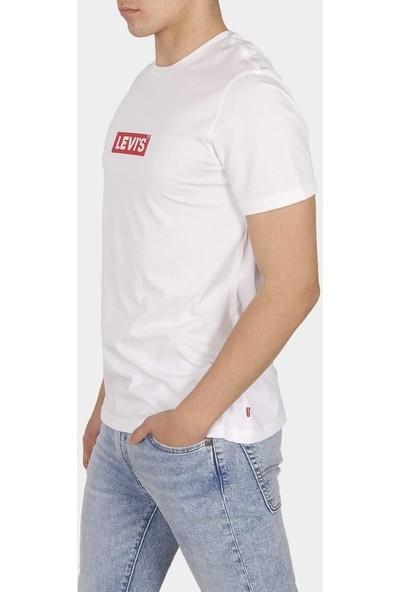 Levi's Baskılı Bisiklet Yaka Erkek T Shirt 85785-0001+02 Beyaz M