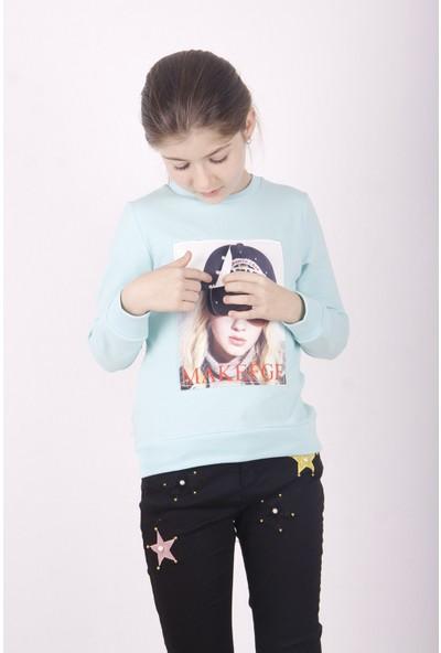 Toontoy Kız Çocuk Şapkası 3D Baskılı Sweatshirt