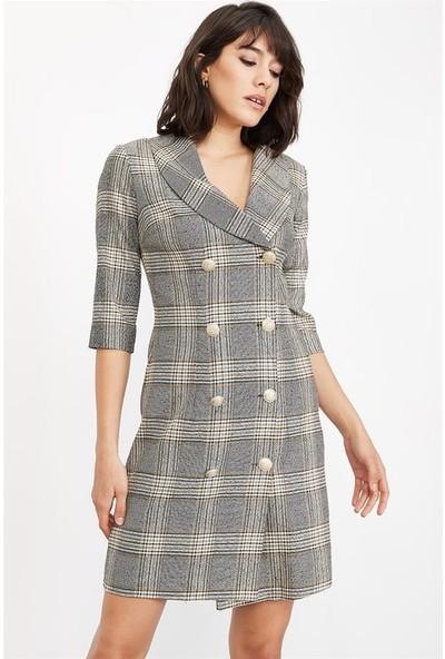 Lafaba Kadın Gri Ceket Elbise
