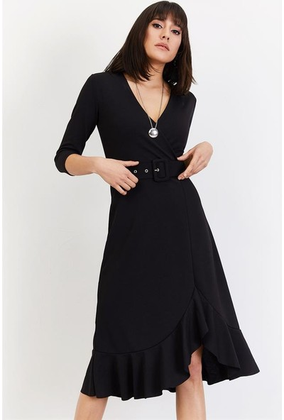 Lafaba Kadın Siyah Günlük Elbise