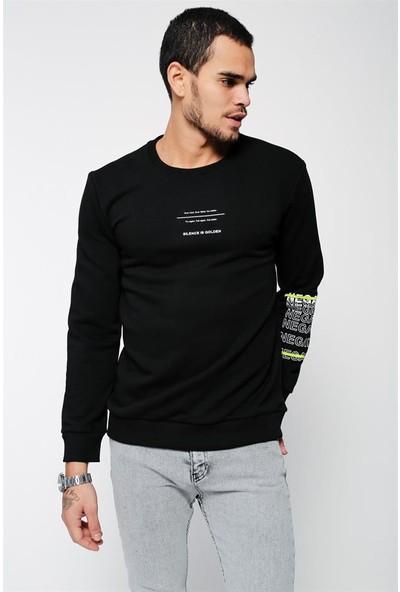 Lafaba Erkek Siyah Sweatshirt
