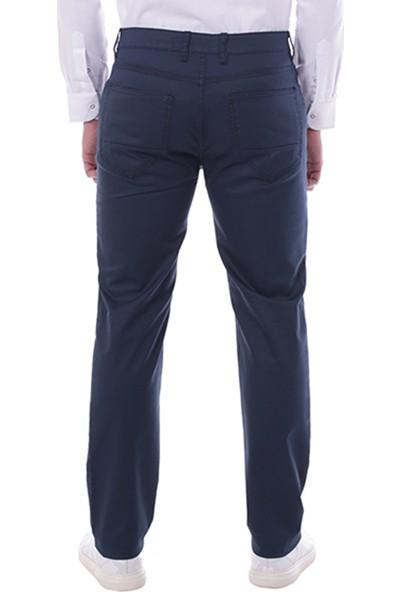 Diandor 5 Cepli Erkek Keten Pantolon Lacivert/Navy 1813014
