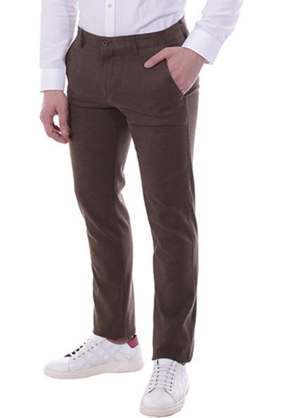 Diandor Dar Kesim Kışlık Kumaş Erkek Pantolon Haki/Khaki 1823102