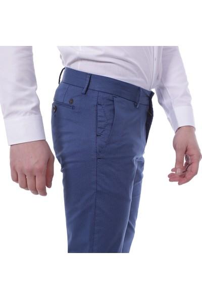 Diandor Dar Kesim Yandan Cepli Erkek Pantolon 3003 Laci-Pasifik/Navy-Ocean 1923003