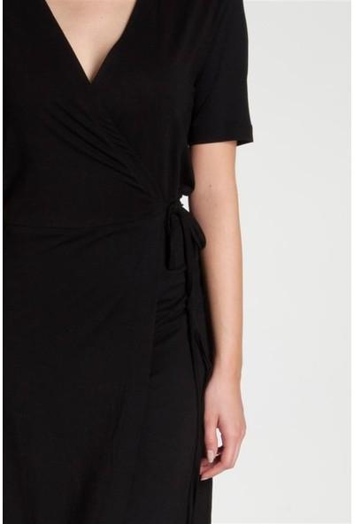 Bexy Sophia - Kruvaze Siyah Elbise S
