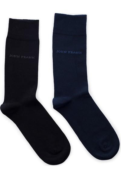 John Frank 2 Pack Erkek Çorap Ctnjf2Ls19W01