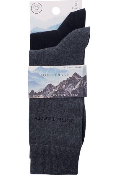 John Frank 2 Pack Erkek Çorap Ctnjf2Ls19W02