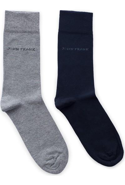 John Frank 2 Pack Erkek Çorap Ctnjf2Ls19W03
