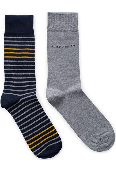 John Frank 2 Pack Erkek Çorap Ctnjf2Ls19W08