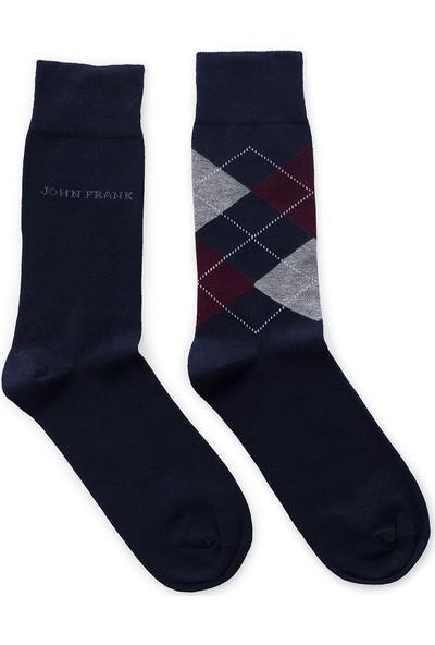 John Frank 2 Pack Erkek Çorap Ctnjf2Ls19W22