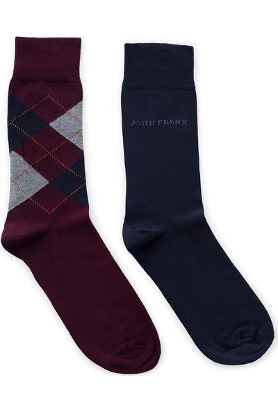 John Frank 2 Pack Erkek Çorap Ctnjf2Ls19W24