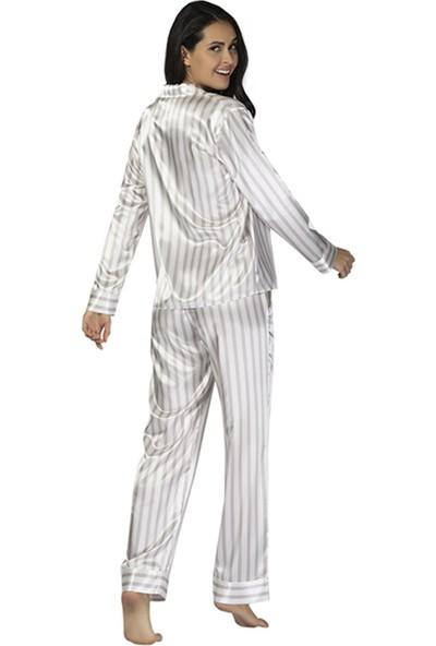u&me Brıde Saten Pijama Takımı