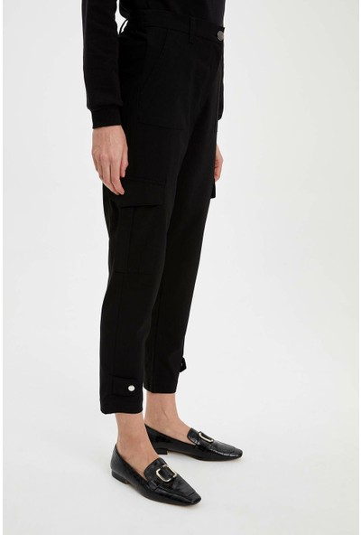 DeFacto Kadın Kargo Fit Dokuma Pantolon