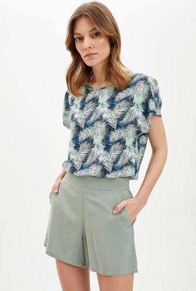 DeFacto Kadın Regular Fit Kısa Kollu Bluz