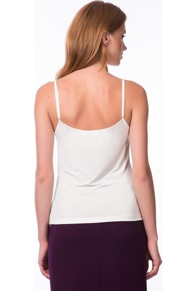 Roman Kadın Askılı Kemik Bluz-K1313057-019