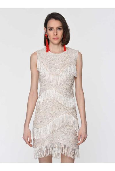 Roman Kadın El İşlemeli Püsküllü Elbise-Y1911502-047