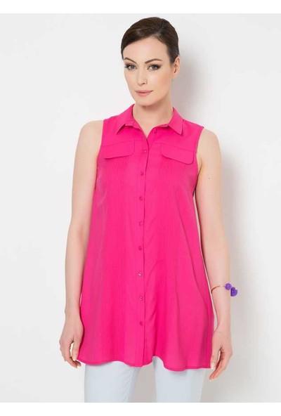 Roman Kadın Fusya Bluz-Y1523005-003