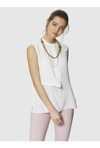 Roman Kadın Ön Detaylı Kemik Bluz-Y9913004-019