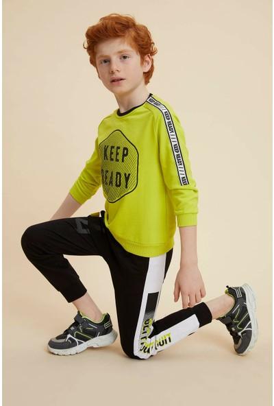 DeFacto Erkek Çocuk Şerit Baskı Detaylı Jogger Eşofman Altı N1587A620SP