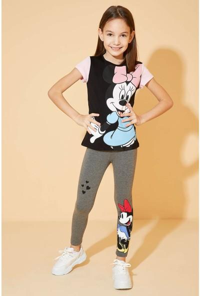 DeFacto Kız Çocuk Slim Fit Minnie Mouse Lisanslı Tayt