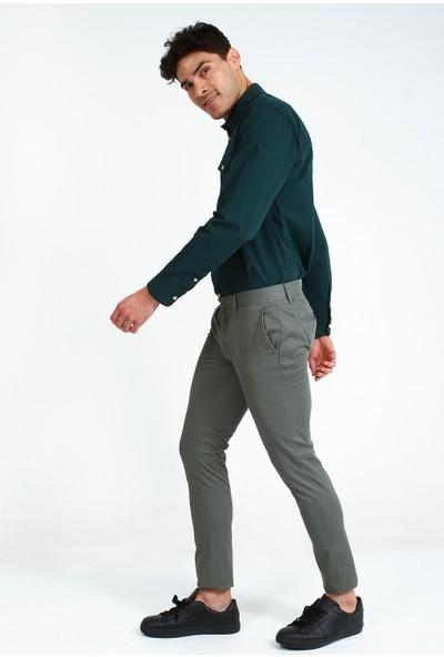 Collezione Erkek Yeşil Regular Pantolon