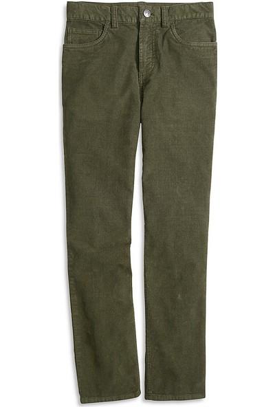Brooks Brothers Erkek Çocuk Koyu Yeşil Kadife Pantolon