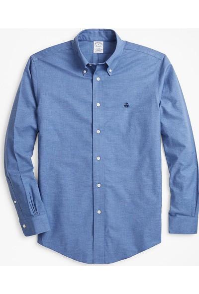 Brooks Brothers Non-Iron Regent Kesim Logolu Oxford Gömlek