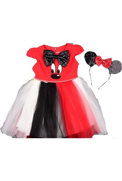 Mini Lady Mickey Mousse Taçlı Kız Çocuk Abiye 2 Yaş