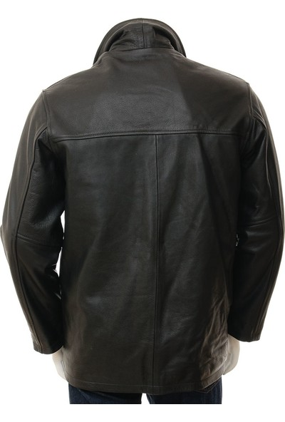 Derimont's Erkek Siyah Deri Ceket Mostoles