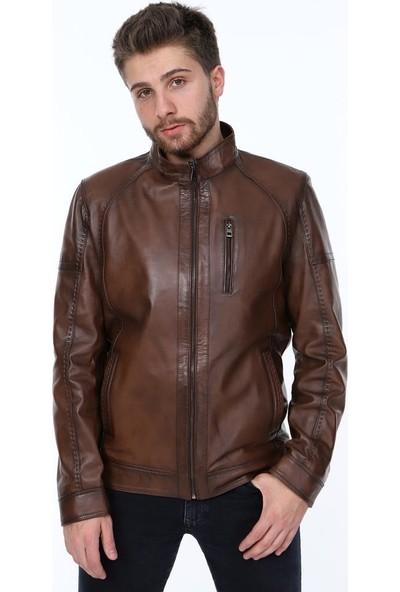 Derimont's Bern Kahverengi Erkek Deri Ceket