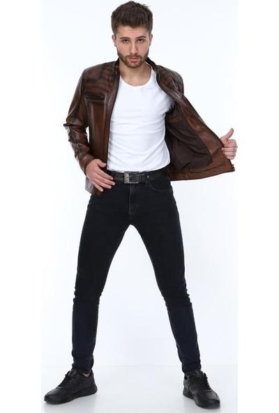 Derimont's Tomris Kahverengi Erkek Deri Ceket