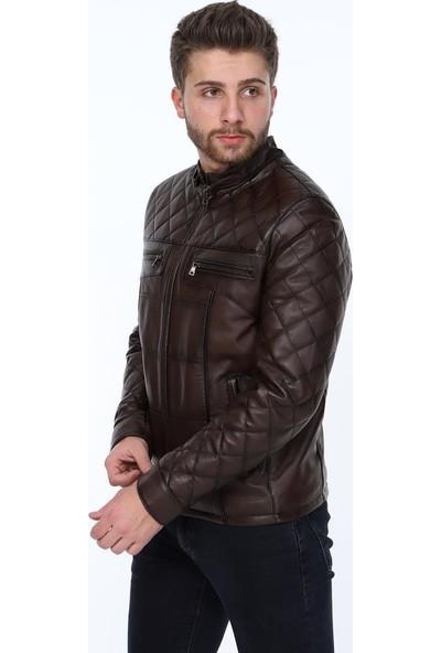 Derimont's Camos Kahverengi Erkek Deri Ceket